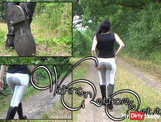 Walking in Jodhpurs and Riding Boots