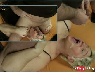 Annadevot - ass and balls licked & rewarded with sperm