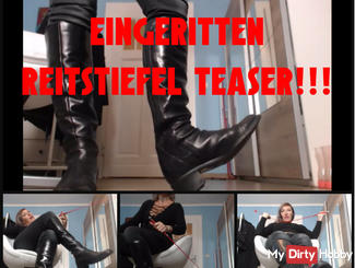 Taken Ritten! Riding Boots Teaser! Energizing and Deny! T & D! Wichsanweisung!