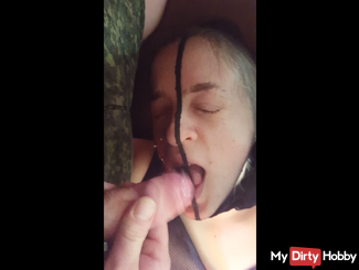 Nylon Blowjob with cumshot