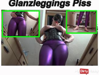 Shiny leggings pissed