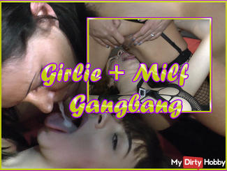 Girlie + Milf Dacada Gang Bang ...