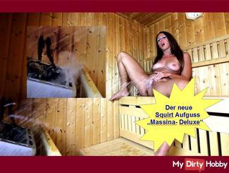 Squirt Piss Pussy-Juice Sauna Fontäne: Massina-Deluxe