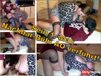 His 1st time: neighbor seduced Bubi AO
