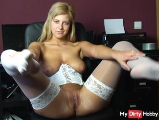 In white stockings