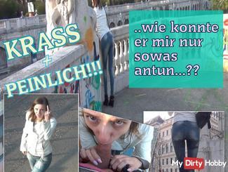 EMBARRASSING - Public jeans piss!
