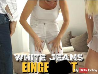 White Jeans eingepi**t