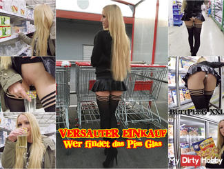 Kinky SHOPPING-WHO FINDS THE GLASS PISS?