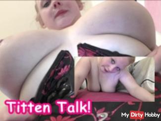 Talk tits! Come sprayed her tits full