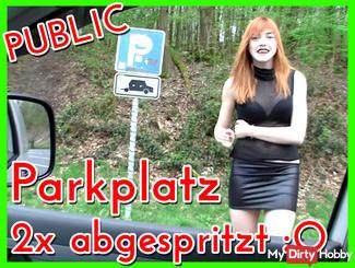 2x Public Parking Fuck!