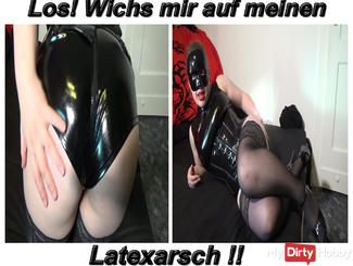 Jerk off on my latex ass!