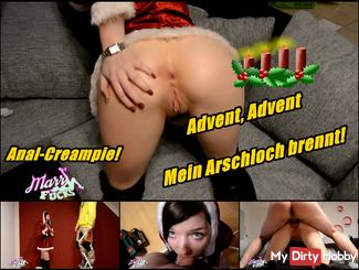 Advent, Advent my ass is on fire! Anal creampie