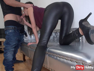 Fetish Blowjob Challenge - cum or ass fucking!