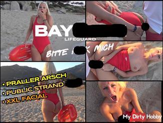 BAYfu*k Rettungs Bitch   Strand fi** im Badeanzug mit XXL Facial