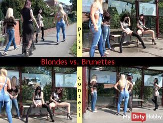 Blondes vs. Brunettes- who pisses better?