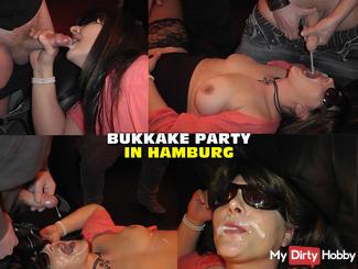 Horny Bukkake Party in Hamburg