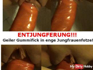 ENTJUNGFERUNG !!! Geiler Rubber Got into Jungfrauenfotze Enge!