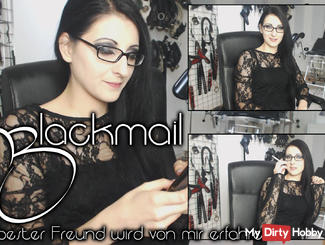 Blackmail - your best friend gets to know of me