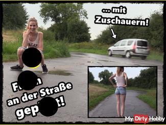 Frecher Public pi** neben der Straße!