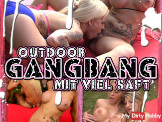 OUTDOOR GANGBANG with plenty of SAFT