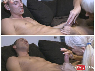 violent Cock massage - out of control
