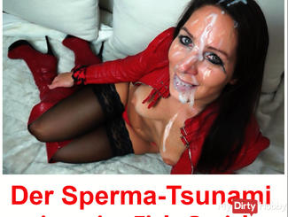 Mega Sperm-Tsunami in my Fuck-Face