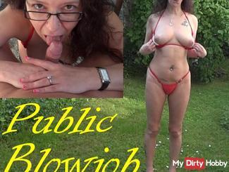 Public Blowjob in the garden