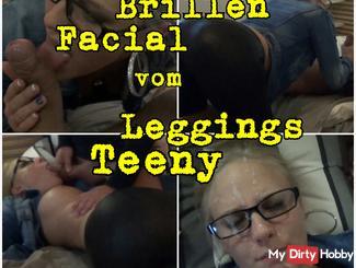Handjob Facial glasses from leggings Teeny