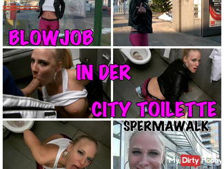 Spermawalk - Horny in the public toilet