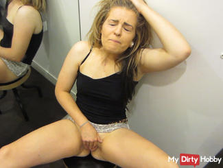 Public orgasm in the locker room