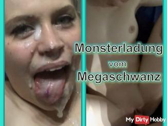 Monsterload from a huge cock