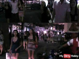 Pattaya Walking Street Largest Sexstrasse !!