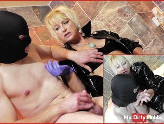 PVC Lady milk coercion - Slave BDSM