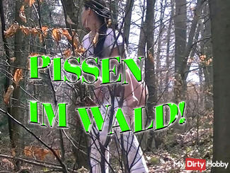 Pissing in the woods!