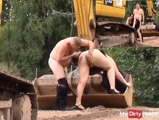 Fucked on the excavator