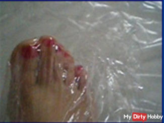My feets and some cling film