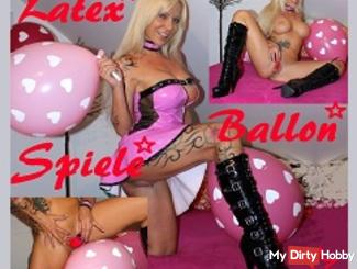 Paint & Balloons & in between my wet pussy dildo