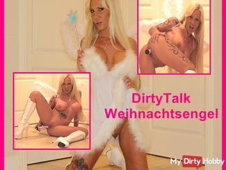 Sexy Dirty Talk Christmas Angel pussy fucks herself to orgasm