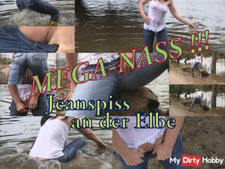 Mega Wet Jeanspiss on the Elbe