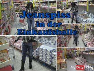Jeanspiss in the shopping mall !!!