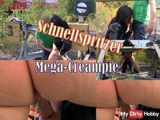 Schnellspritzer mega creampie
