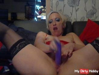 Dildo in ass and pussy