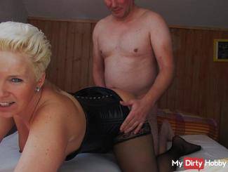 Amateur creampie pussy with Doggyfick