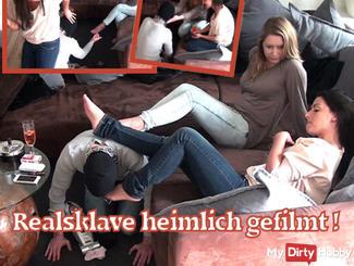 Real slave secretly filmed! Part 2