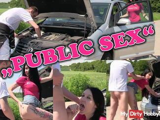 Vehicle Breakdown! Public Fick as a thank you