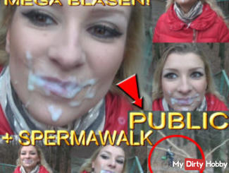 PUBLIC - MEGA BUBBLES, CUM! + Spermawalk !!