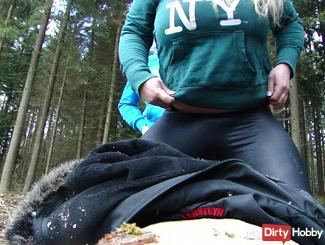 First Doggy fuck in the forest 2015