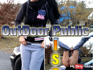 !!! ° ° OMG Outdoor Public Piss- While jogging !!!
