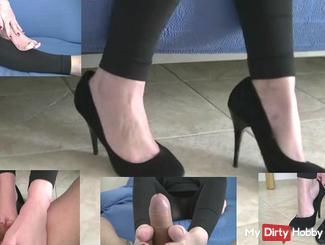 High Heel fetish with footjob