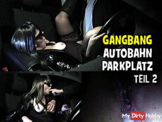 Parking Gangbang in December 2013. Part 2